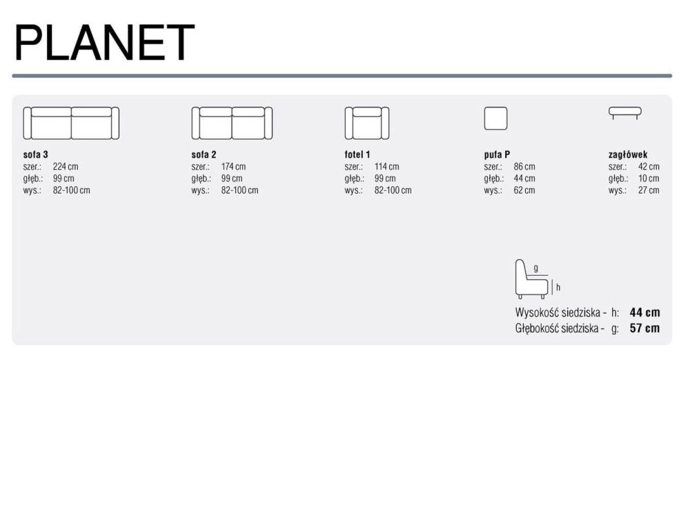 Planet 3-2-1 bőr ülőgarnitúra