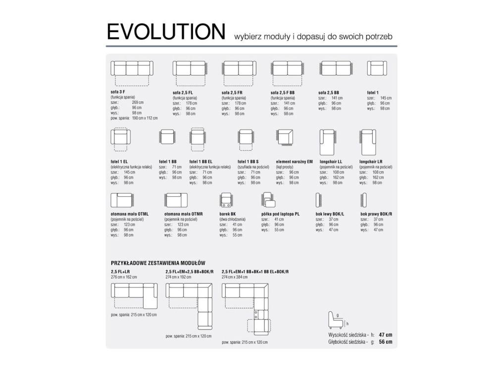 Evolution sarok ülőgarnitúra