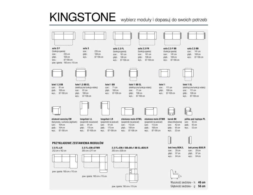 Kingstone  sarok ülőgarnitúra